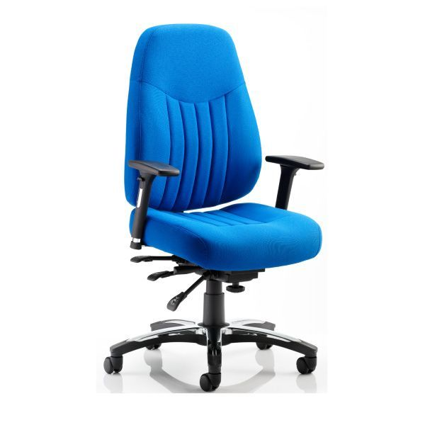 Ashill Deluxe 24 Hour Heavy Duty Office Chair 23 5 Stone