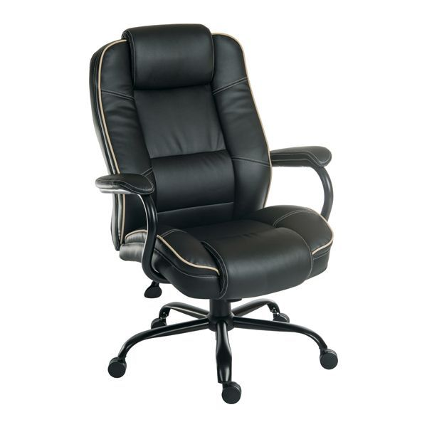 goliath duo leather heavy duty office chair 27 stone. Black Bedroom Furniture Sets. Home Design Ideas