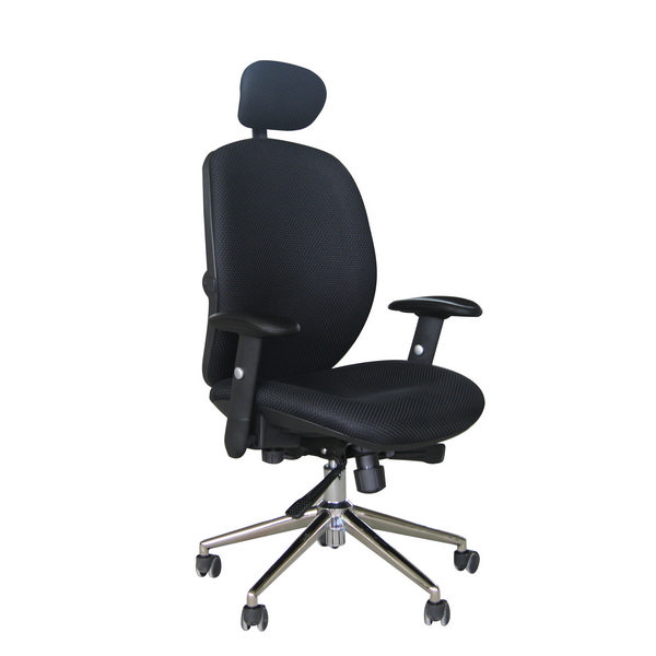 Pegasus High Back Heavy Duty Office Chair With Headrest 25 stone