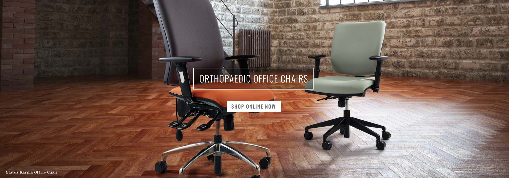 Orange & turquoise Status Karma office chair