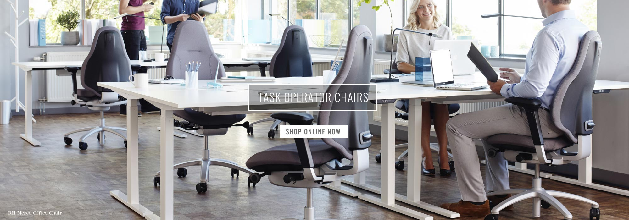 Grey RH Mereo office chair in a contemporary office