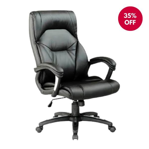 Foxborough Leather Office Chair | Heavy Duty Gas Lift