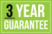 3 year guarantee icon