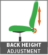back height adjustment icon