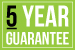 5 year guarantee icon