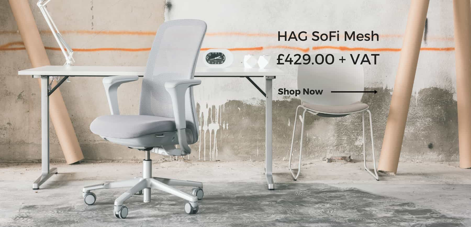 HAG Sofi mesh office chair in grey
